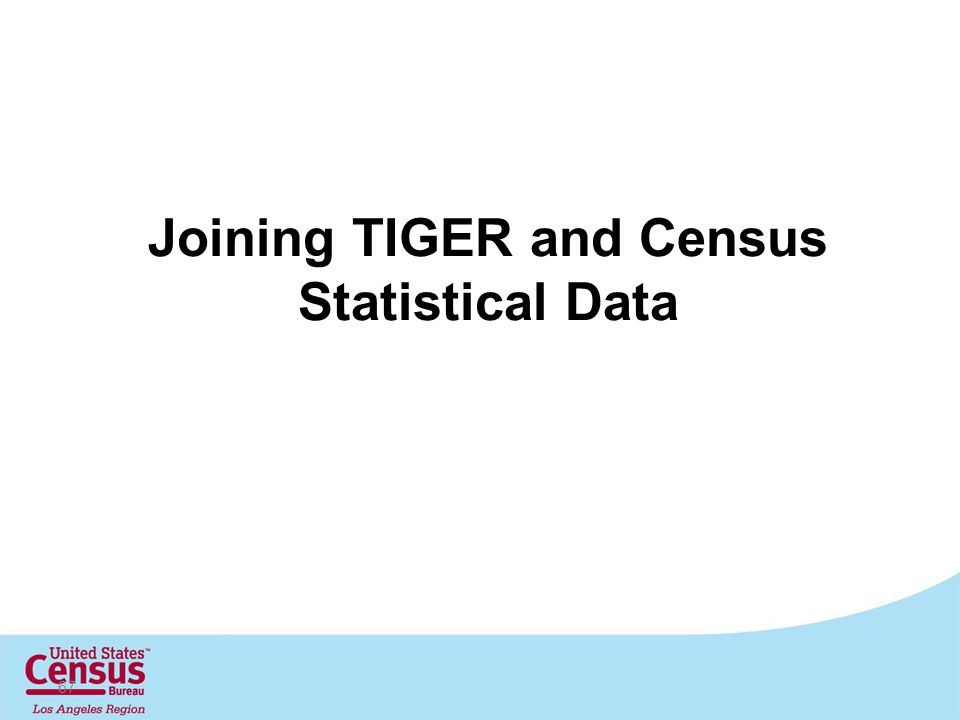 Joining TIGER and Census Statistical Data 67