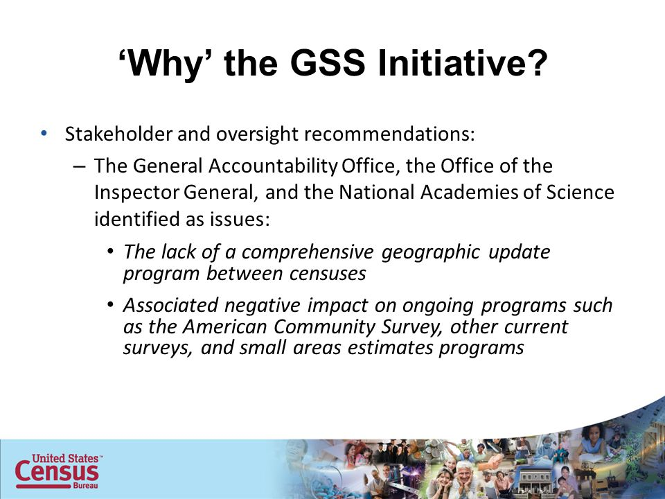 'Why' the GSS Initiative.