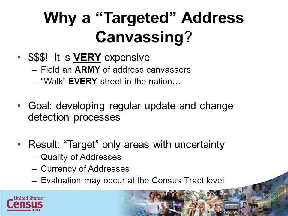 Why a Targeted Address Canvassing. $$$.