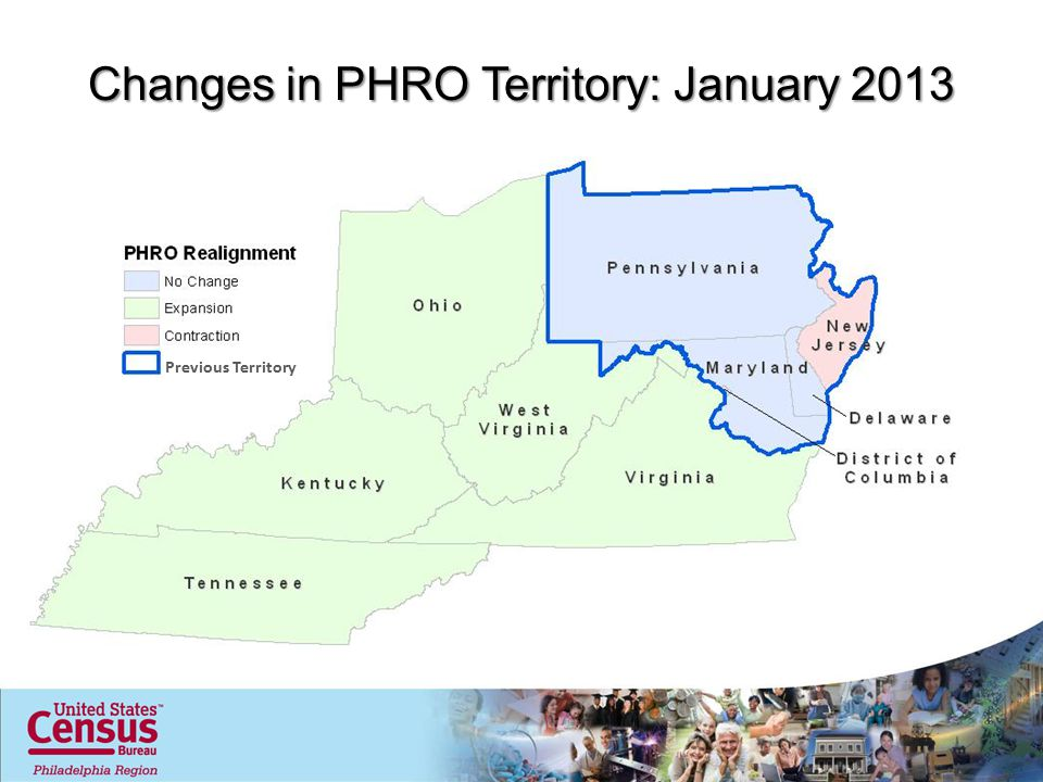Changes in PHRO Territory: January 2013 Previous Territory