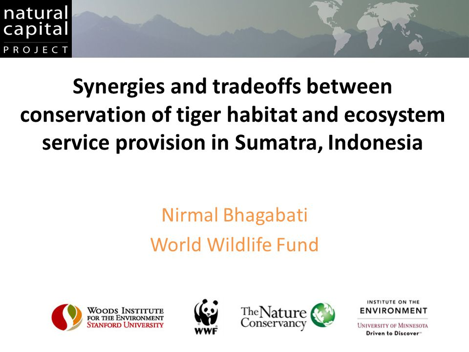 Based on visual inspection, InVEST model score of > 0.9 corresponds reasonably well with observed tiger occurrence
