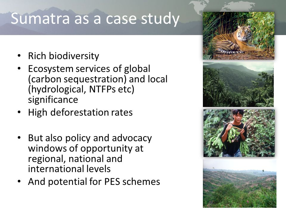 Questions 1) Where, and how much, did ES provision align with tiger habitat conservation in 2008.