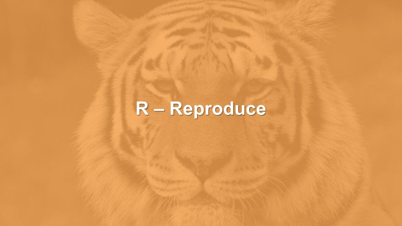 R – Reproduce