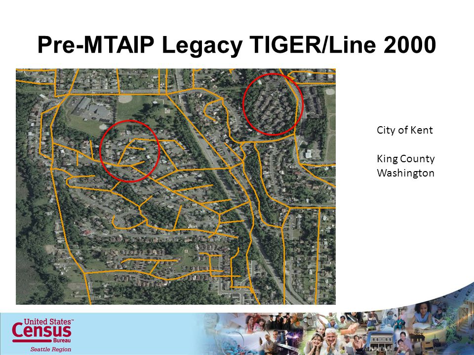 Pre-MTAIP Legacy TIGER/Line 2000 City of Kent King County Washington