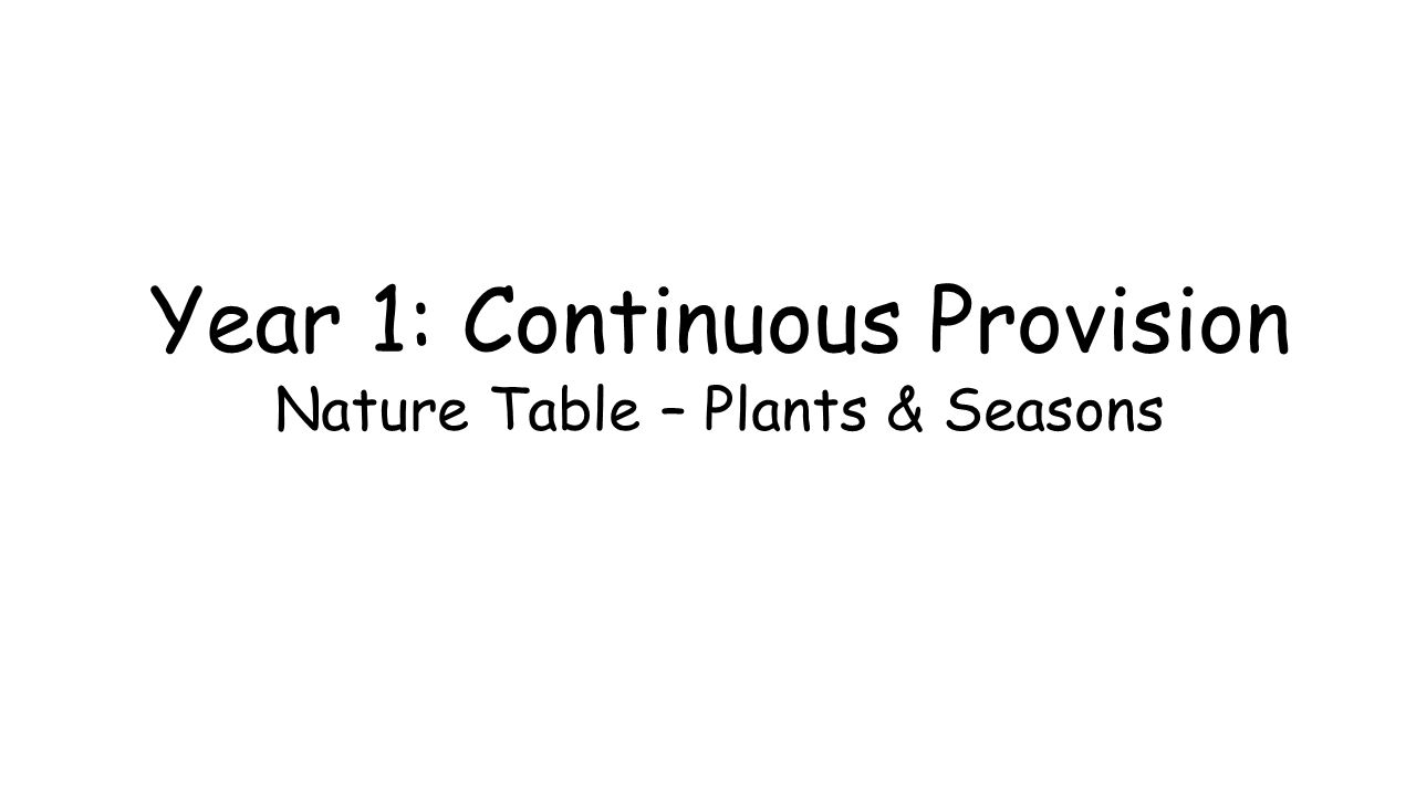 Year 1: Continuous Provision Nature Table – Plants & Seasons