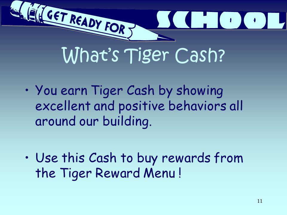 What's Tiger Cash.