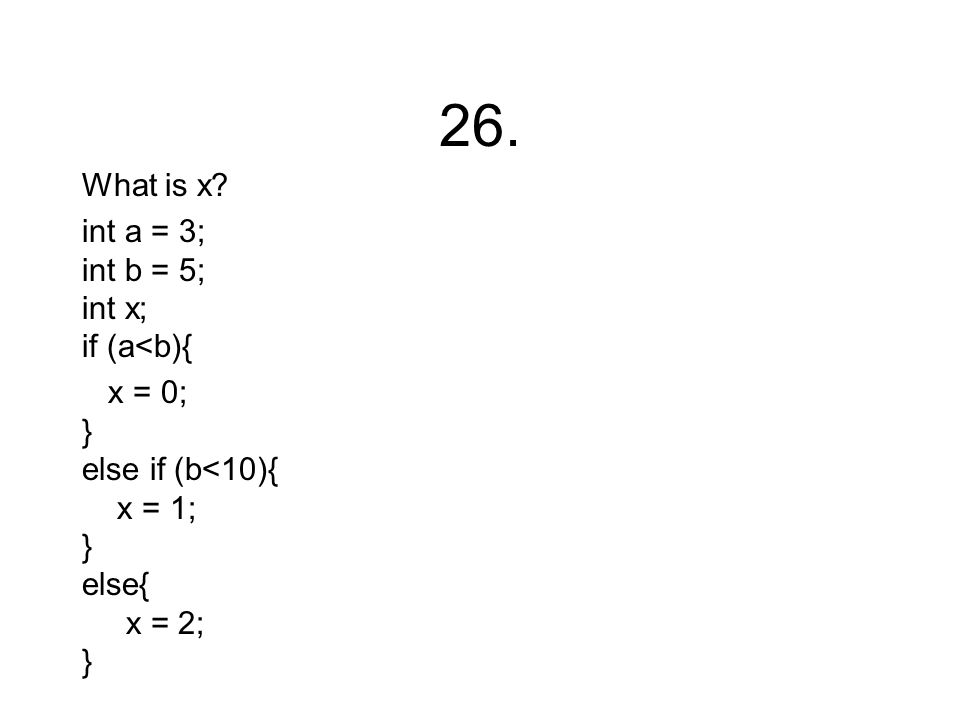 26. What is x.