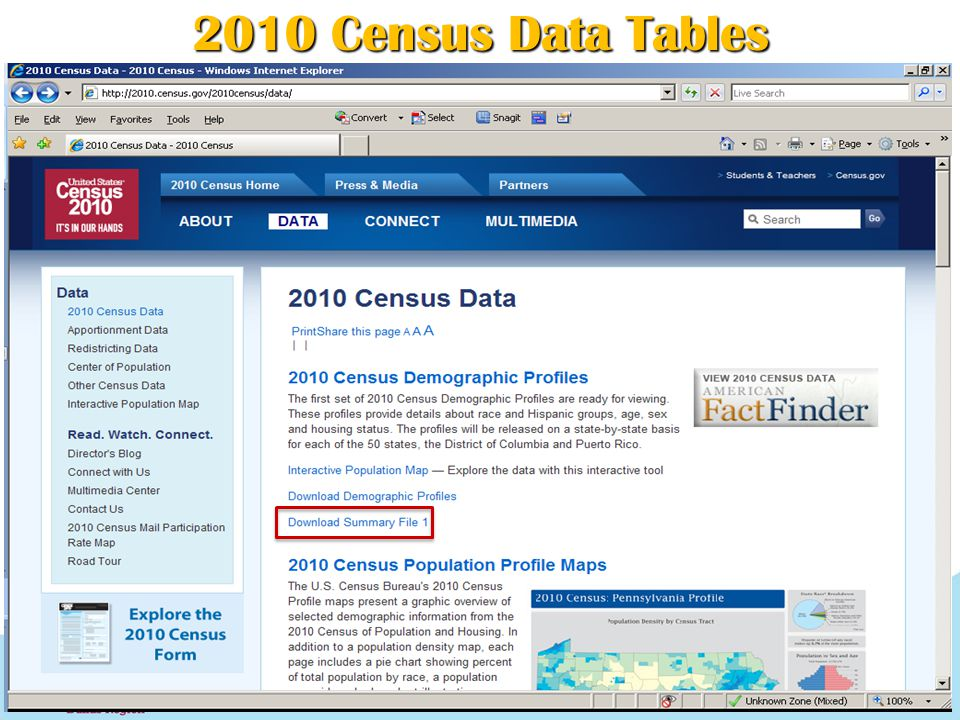 2010 Census Data Tables 14
