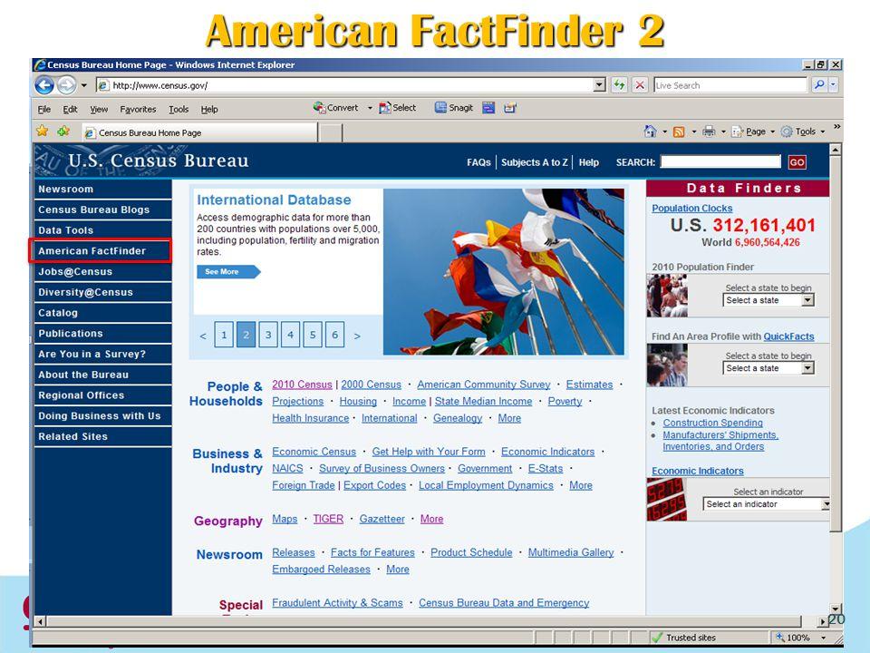 American FactFinder 2 20