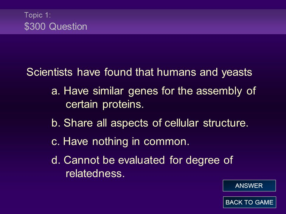 Topic 2: $300 Answer The domain _______ contains plants, fungi, protists, and animals – which are all eukaryotes.