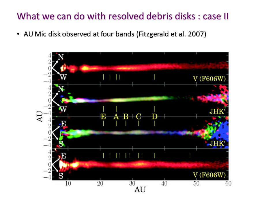 AU Mic disk observed at four bands (Fitzgerald et al.