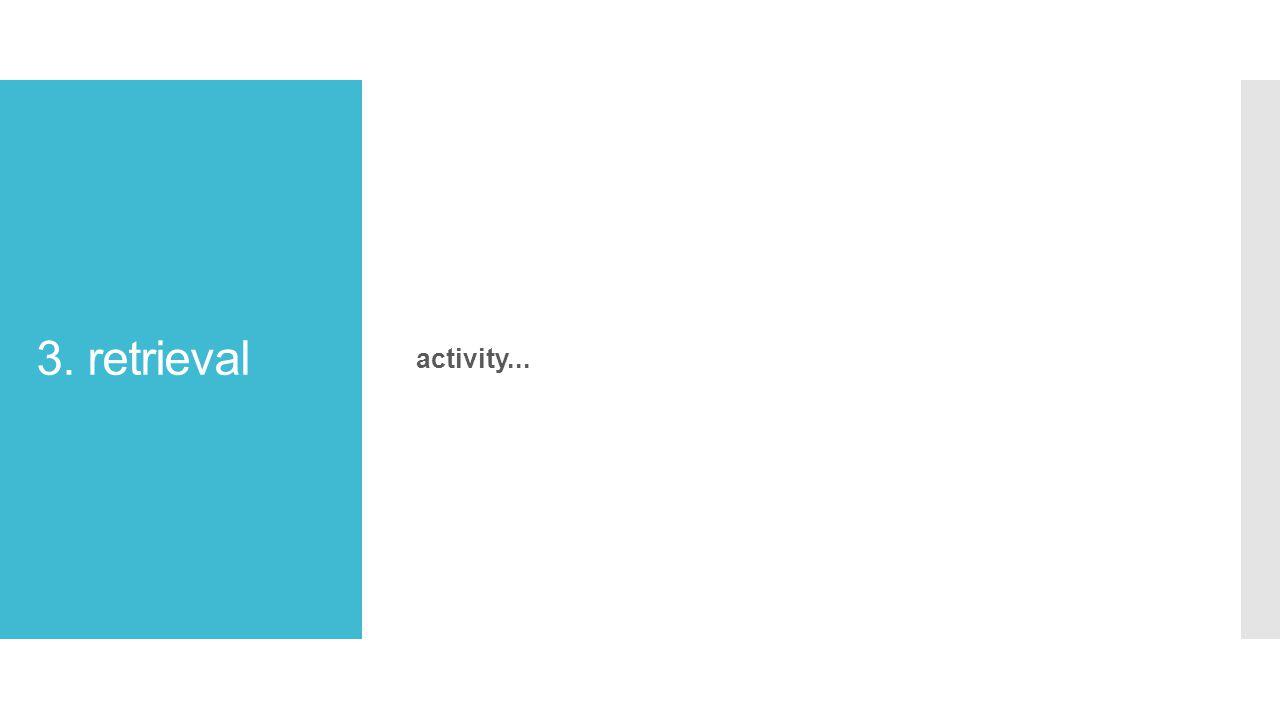3. retrieval activity...