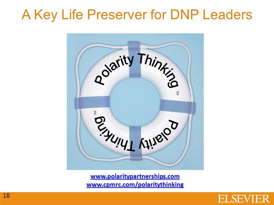 A Key Life Preserver for DNP Leaders 18 TM