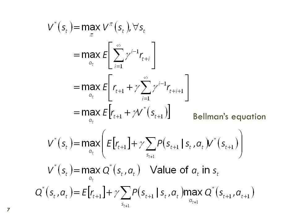 7 Bellman's equation