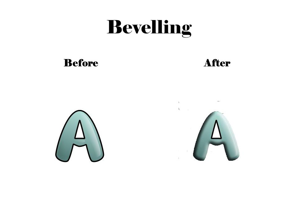 Bevelling BeforeAfter