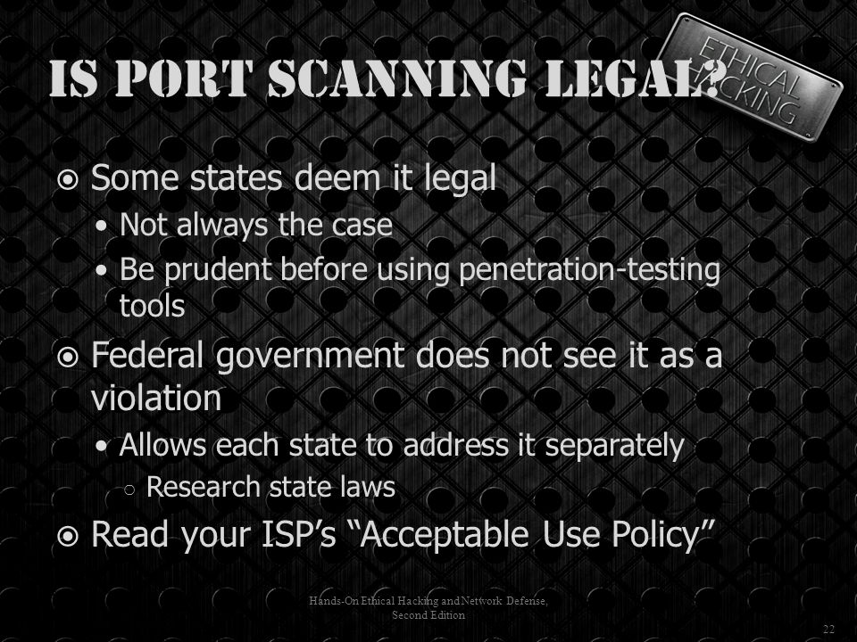 Is Port Scanning Legal.