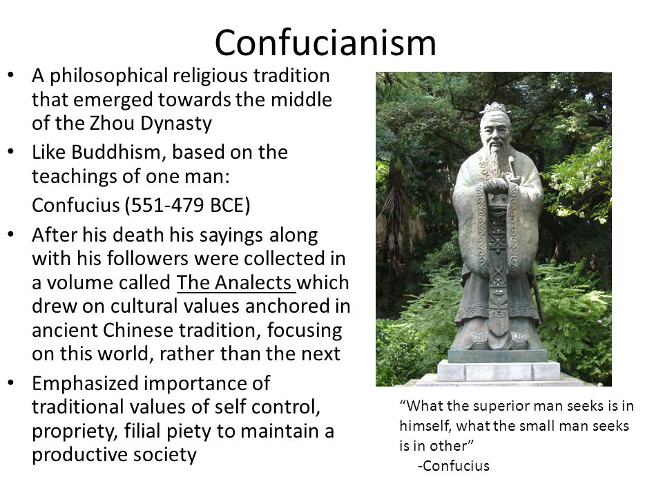 Neo - Confucianism Abundance of leisure time in the Song allowed for reformation of confusion ideas Unified the three creeds of Buddhism, Taoism, and Confucianism into a single system of thought One of China's most influential rationalist Neo-Confucians Zhu Xi (1130–1200) stressed the unity of the three creeds, the unity of the three great philosophies of Buddhism, Confucianism, and Taoism Zhu Xi maintained his Confucian beliefs of social harmony and proper personal conduct while relating it to the Buddhist observance of high moral standards