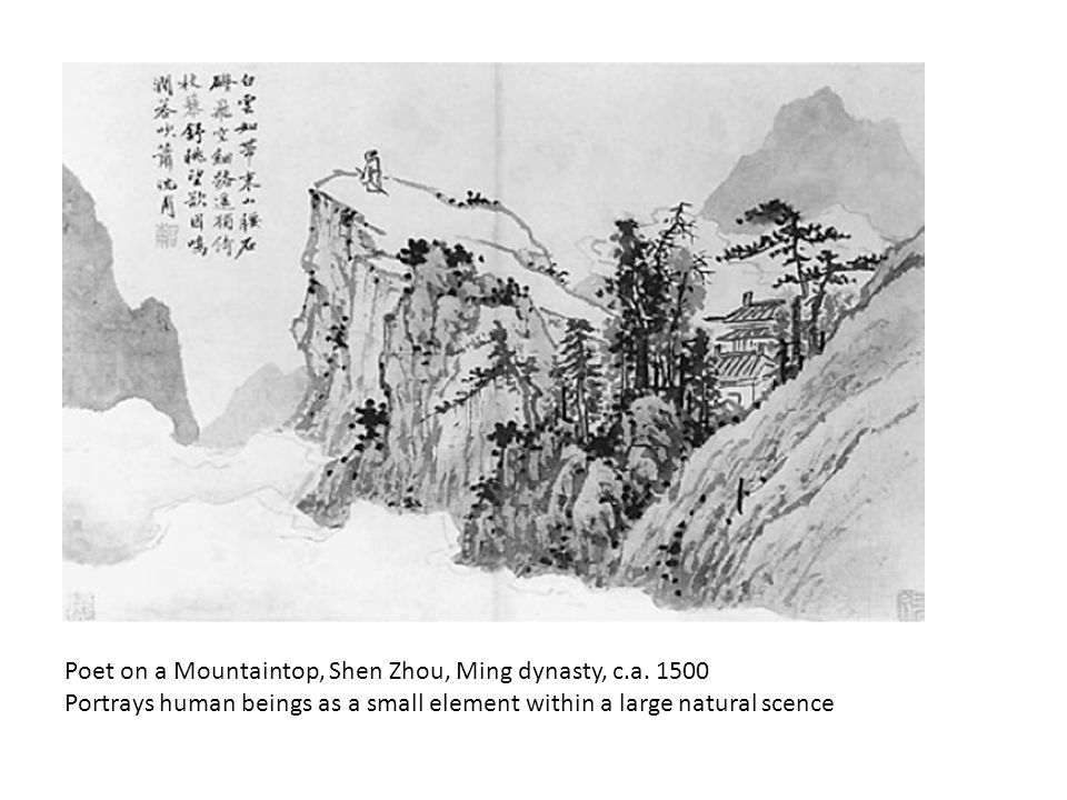 Poet on a Mountaintop, Shen Zhou, Ming dynasty, c.a.