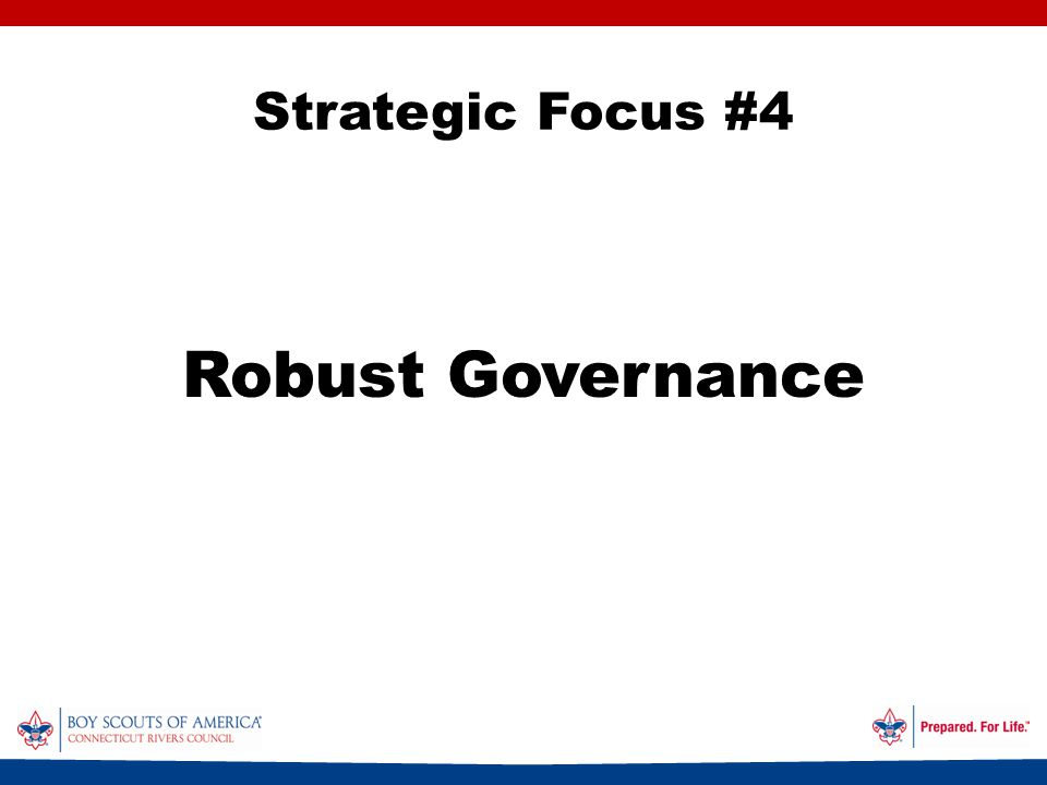 Strategic Focus #4 Robust Governance
