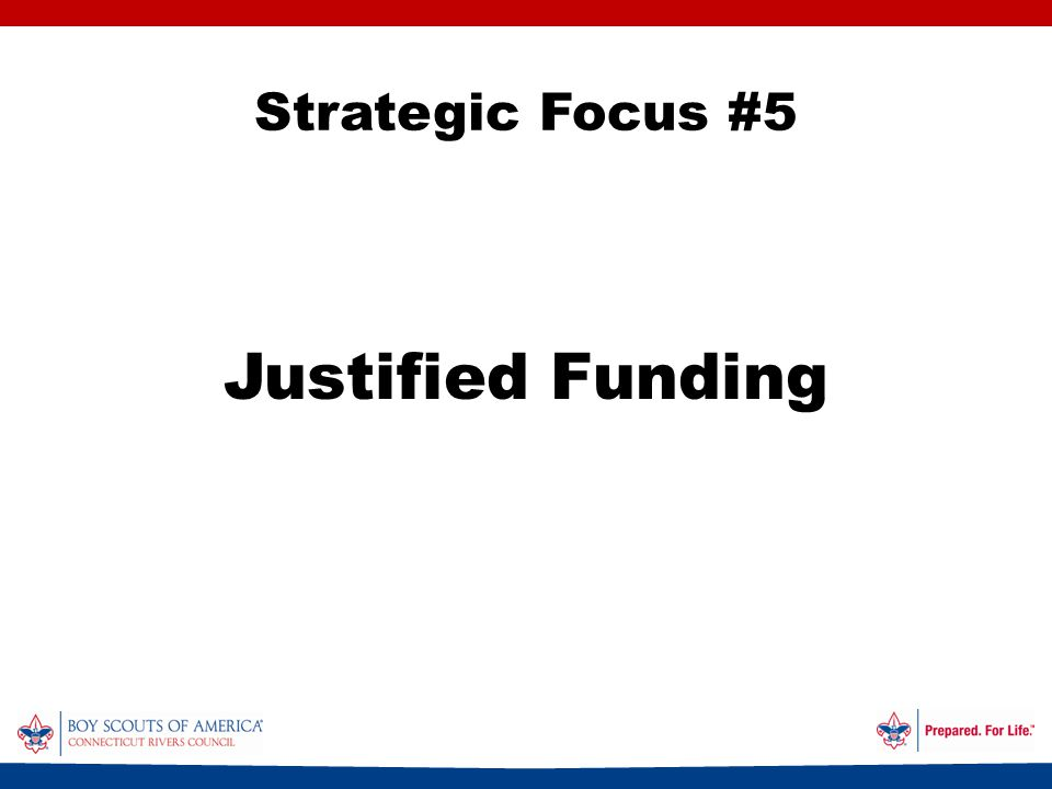 Strategic Focus #5 Justified Funding