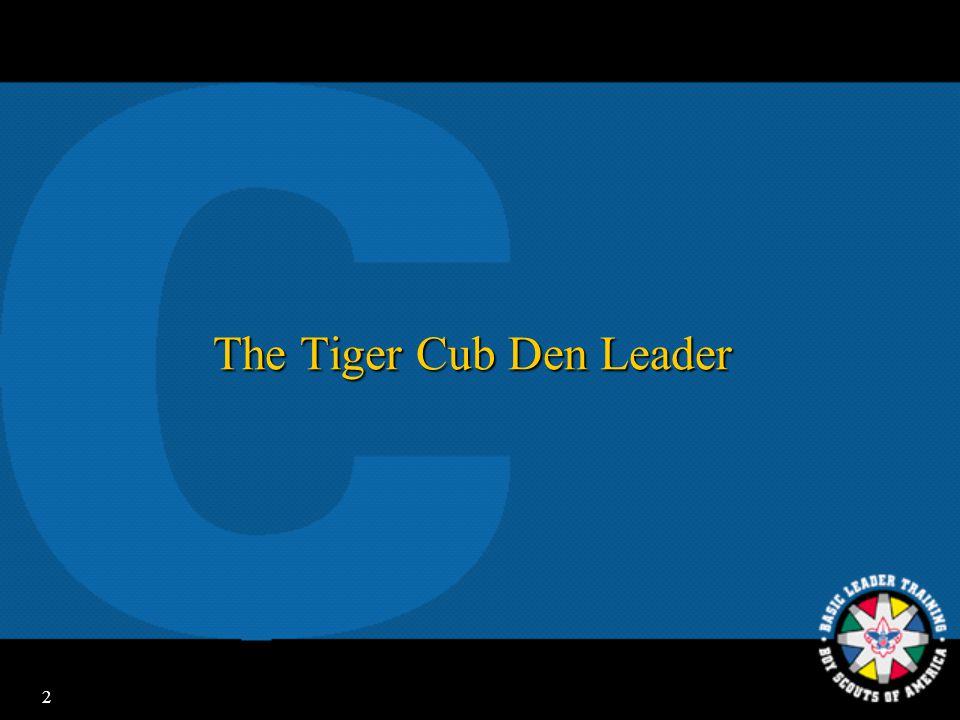 2 The Tiger Cub Den Leader