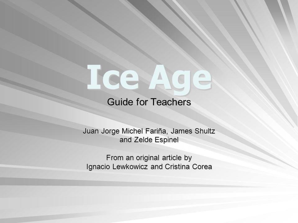 Ice Age Lesson: Disasters cause displacement and create new challenges and opportunities.
