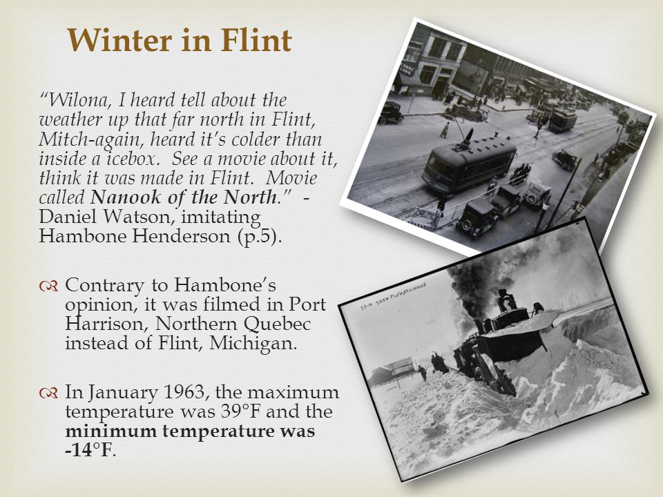  Welcome to Flint, Michigan!