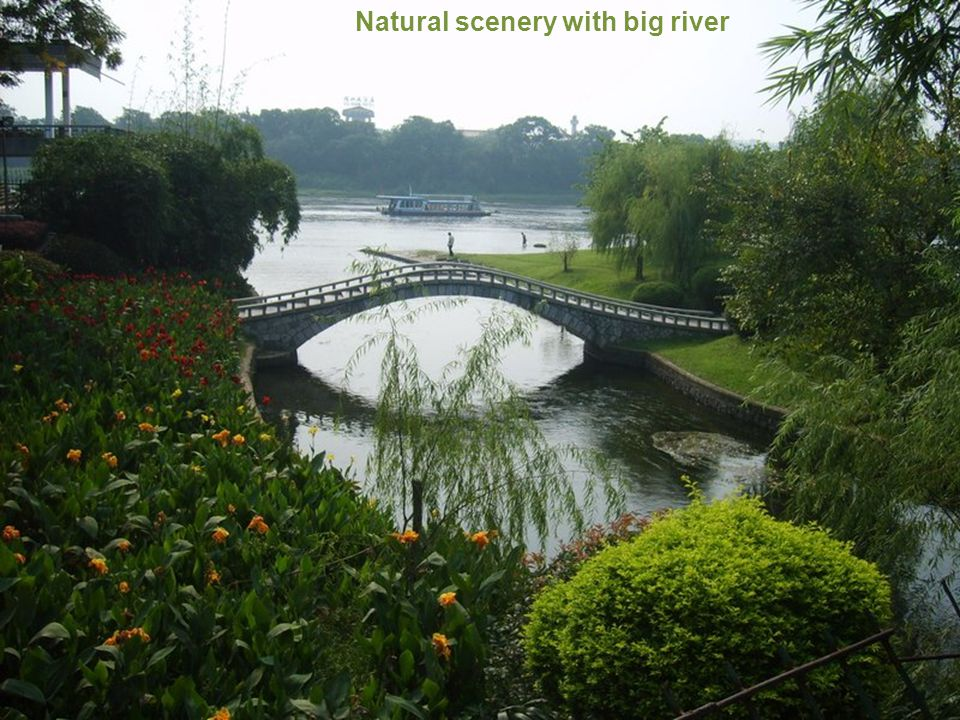 Natural scenery with big river