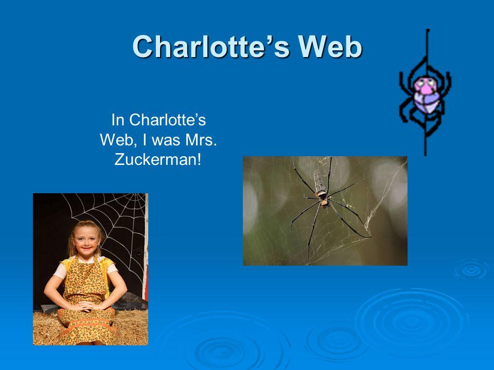 Charlotte's Web In Charlotte's Web, I was Mrs. Zuckerman!