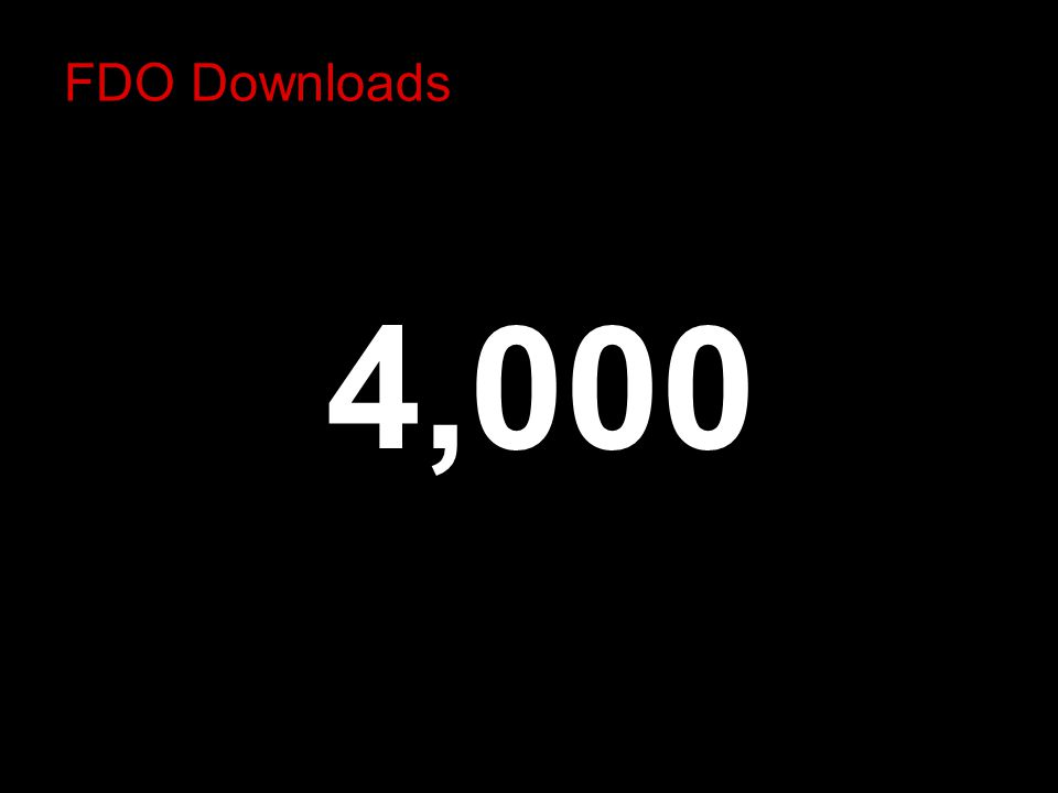 FDO Downloads 4,000