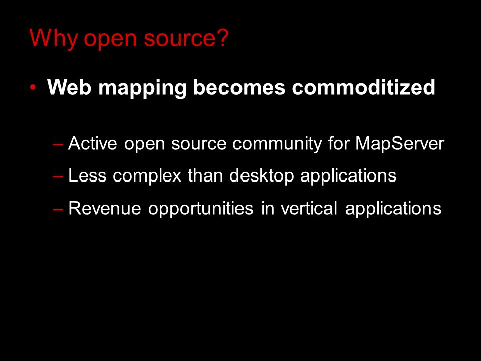 Why open source.