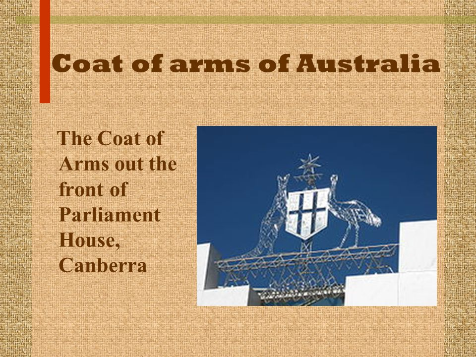The Coat of Arms out the front of Parliament House, Canberra