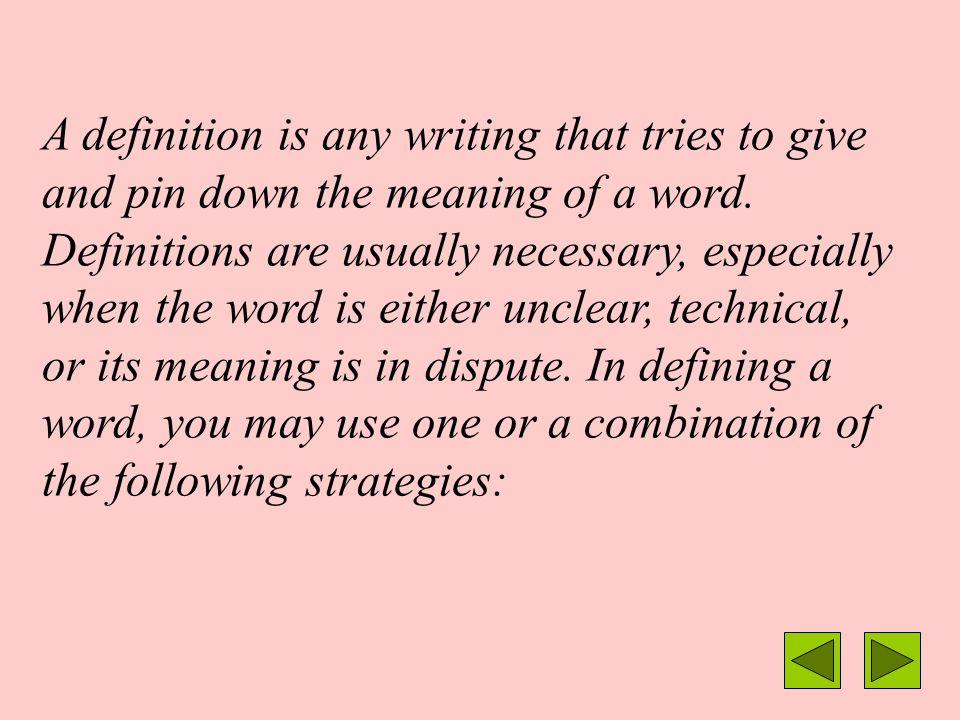 Defining a Term