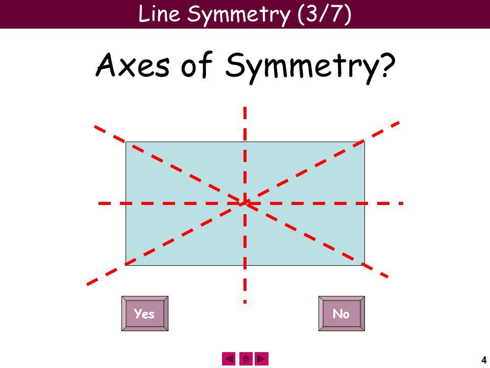 4 Line Symmetry (3/7) Axes of Symmetry YesNo