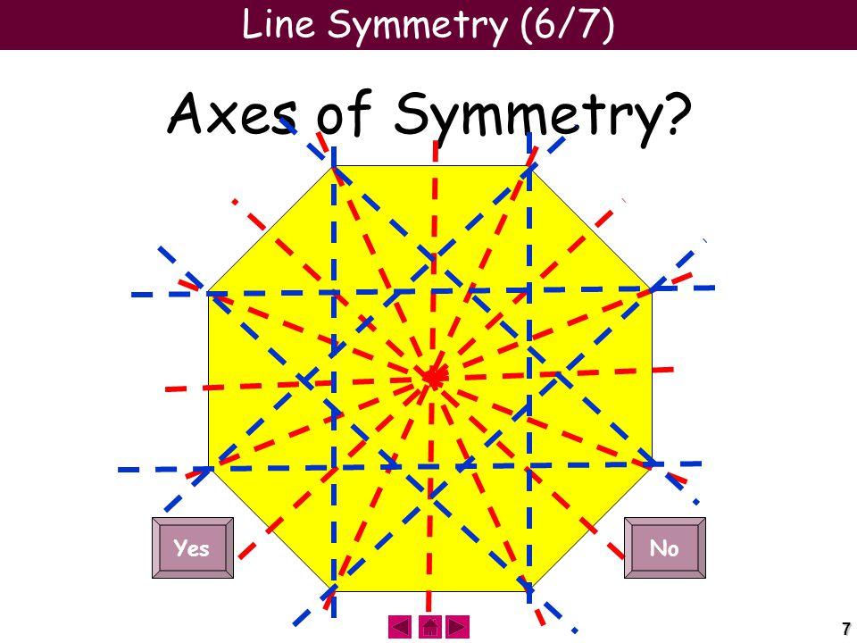 7 Line Symmetry (6/7) Axes of Symmetry YesNo