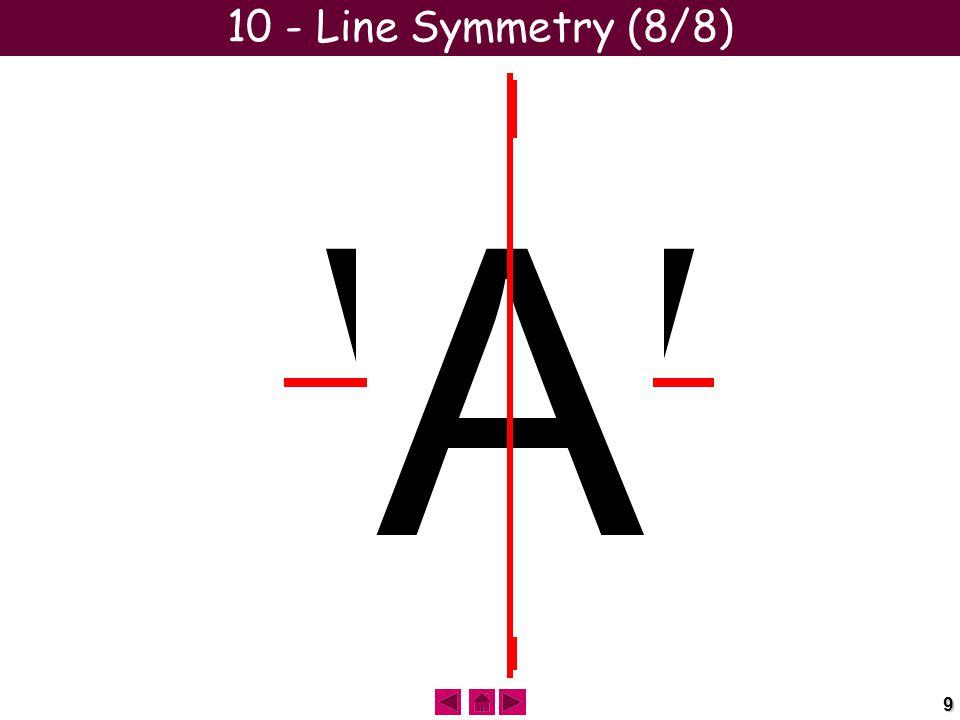 9 HIMTOVUWX 10 - Line Symmetry (8/8) B C D E A