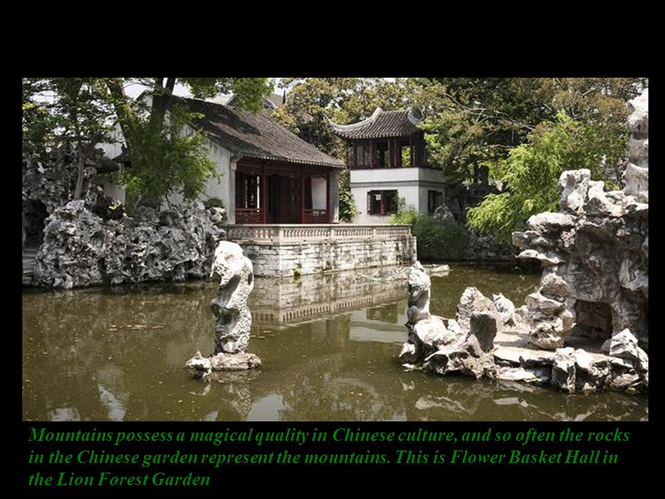 Hangzhou pagoda bridge in China This picture of the Yuyuan Garden in Shanghai (created in 1559) shows all the elements of a classical Chinese garden – water, architecture, vegetation, and rocks.
