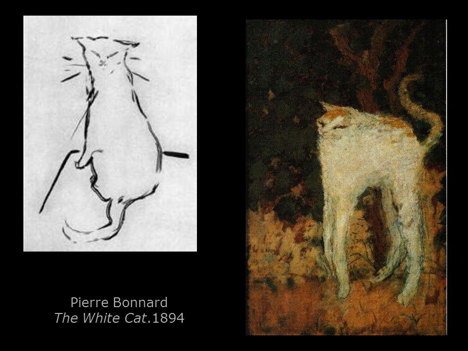 Pierre Bonnard The White Cat.1894