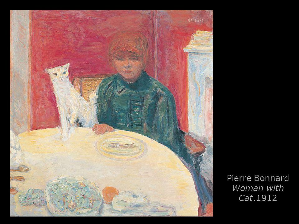 Pierre Bonnard Woman with Cat.1912