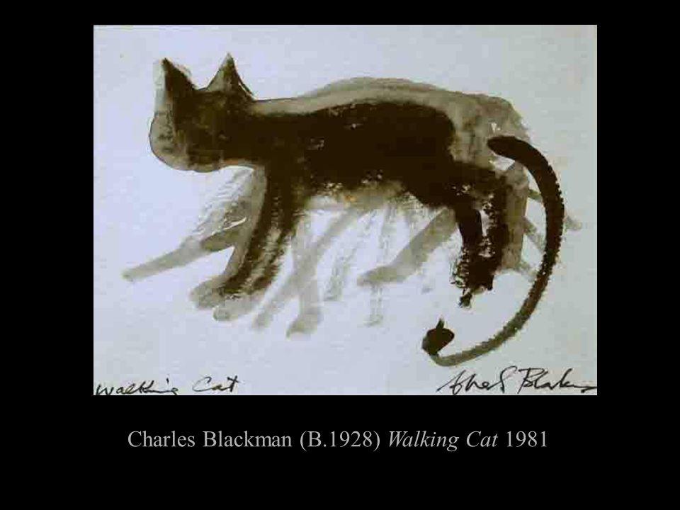 Charles Blackman (B.1928) Walking Cat 1981