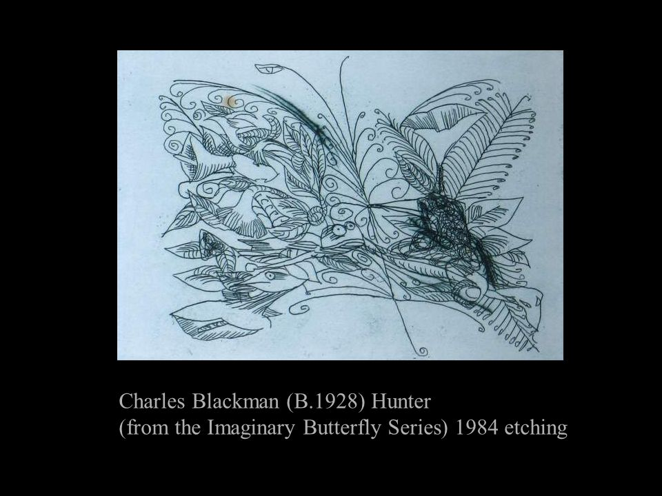 Charles Blackman (B.1928) Hunter (from the Imaginary Butterfly Series) 1984 etching