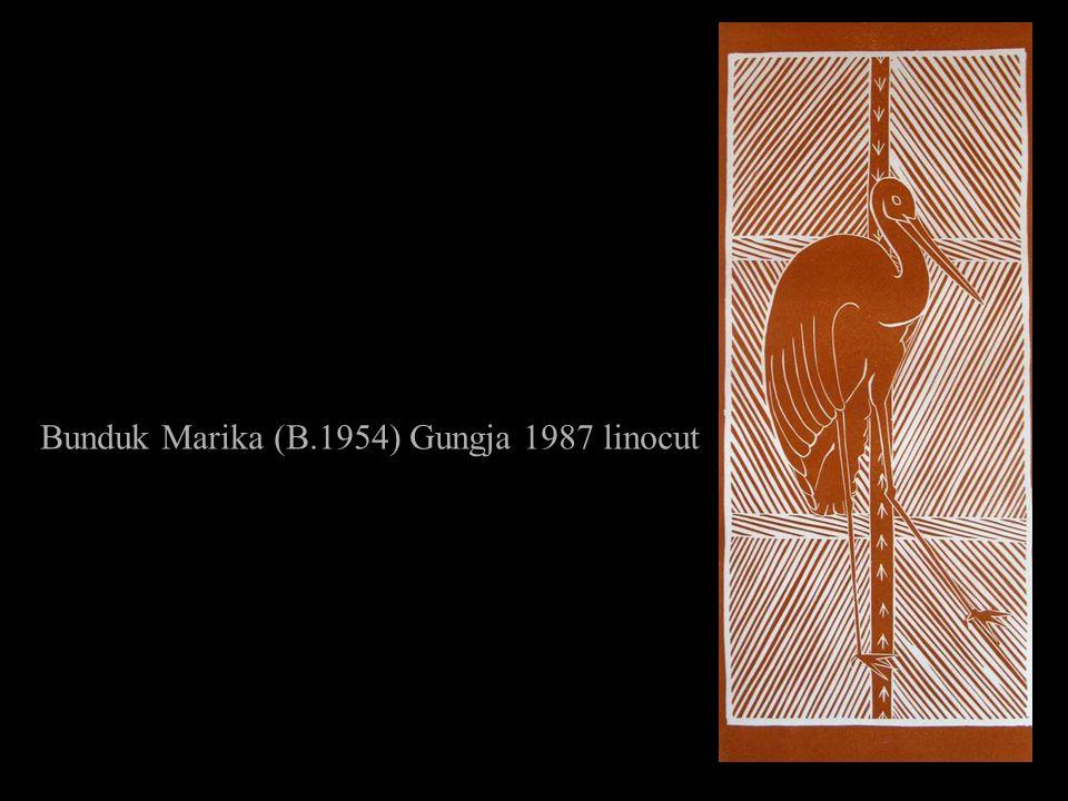 Bunduk Marika (B.1954) Gungja 1987 linocut