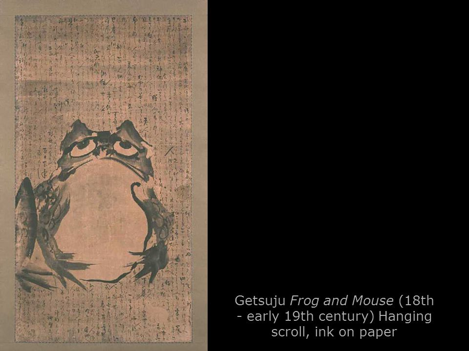 Getsuju Frog and Mouse (18th - early 19th century) Hanging scroll, ink on paper