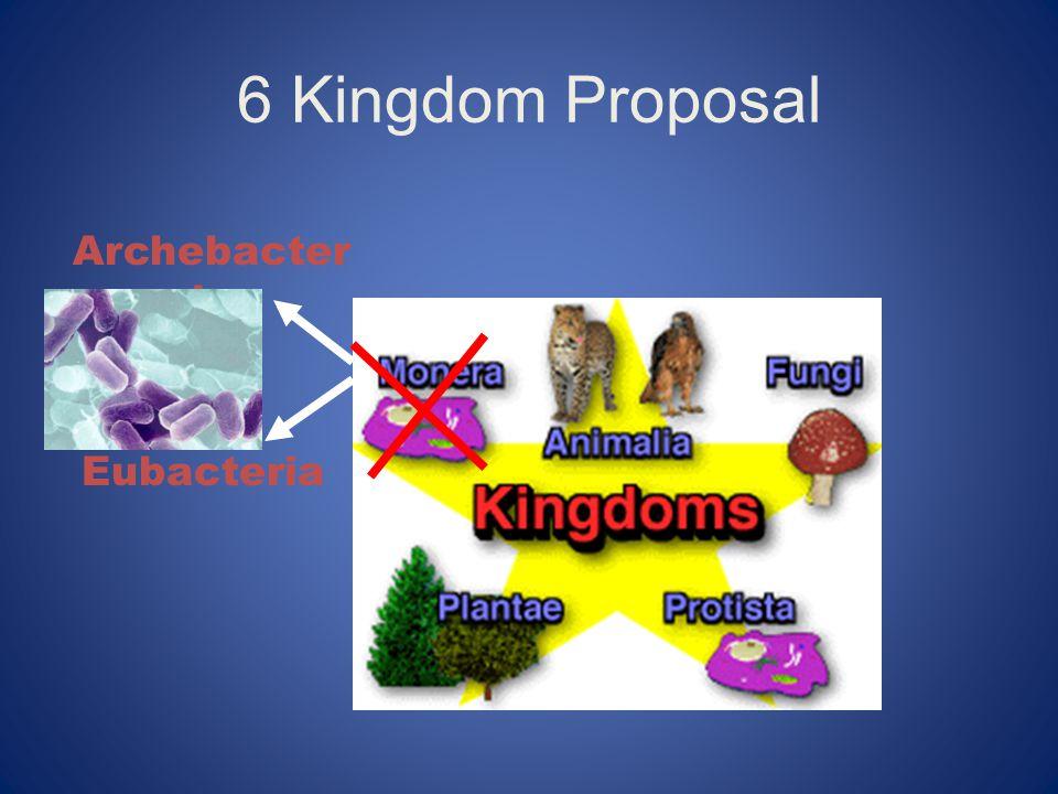 6 Kingdom Proposal Archebacter ia Eubacteria