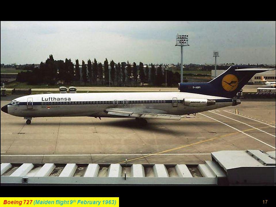 16 Tupolev Tu-134 (Maiden flight 29 th July 1963)