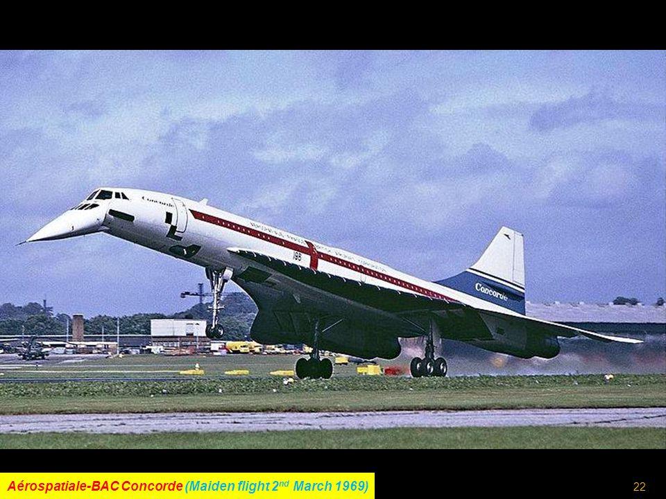 21 Lockheed L-1011 TriStar (Maiden flight 16 th November 1970)
