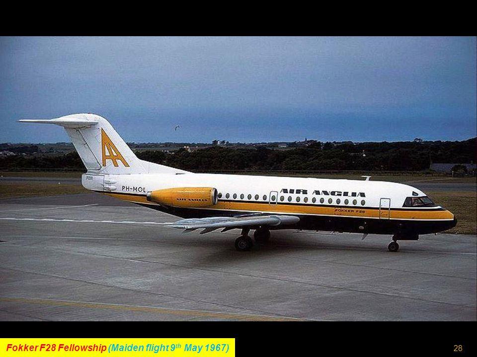 27 Boeing 720 (Maiden flight 23 rd November 1959)