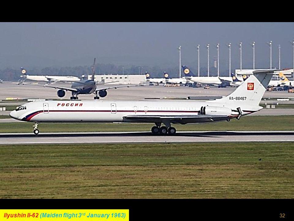 31 Boeing 747SP (Maiden flight 4 th July 1975)