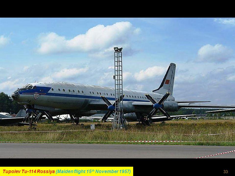 32 Ilyushin Il-62 (Maiden flight 3 rd January 1963)