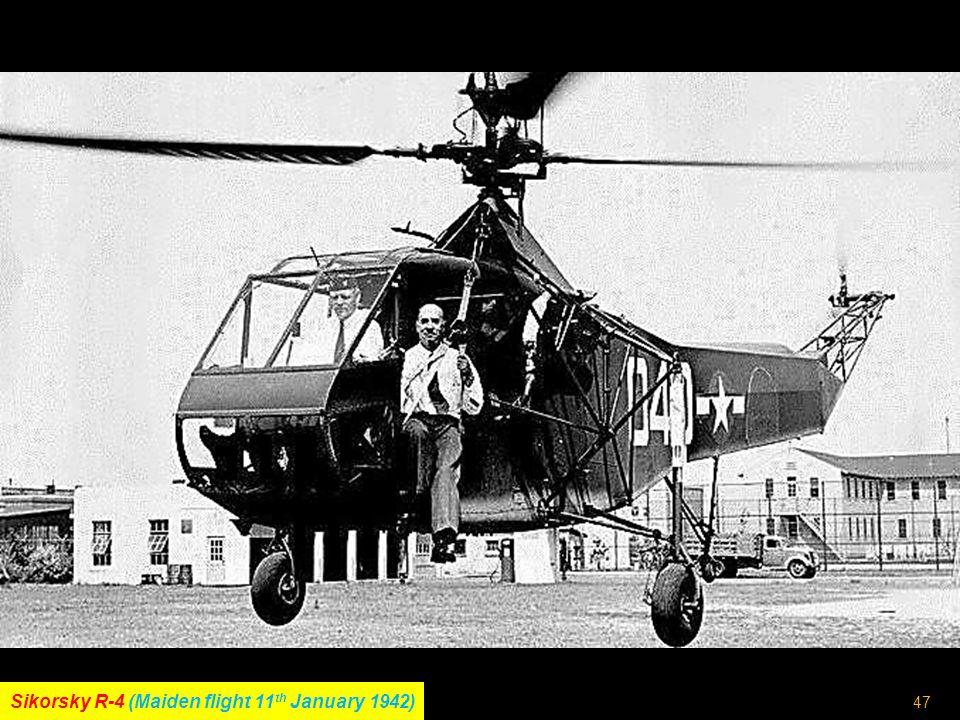 46 Flettner Fl282 Kolibri (Maiden flight 1940)